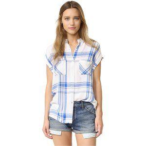 Rails Britt short sleeved shirt in white/marina